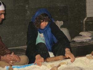 Making chappati