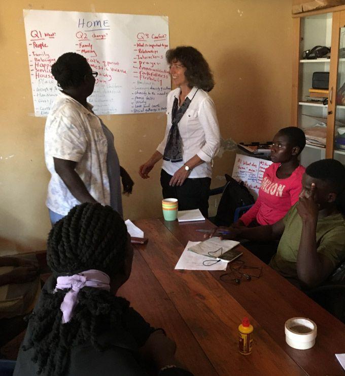 Bonnie Koenig in Uganda